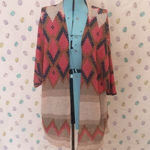 Cute Boho Tribal Print Sweater